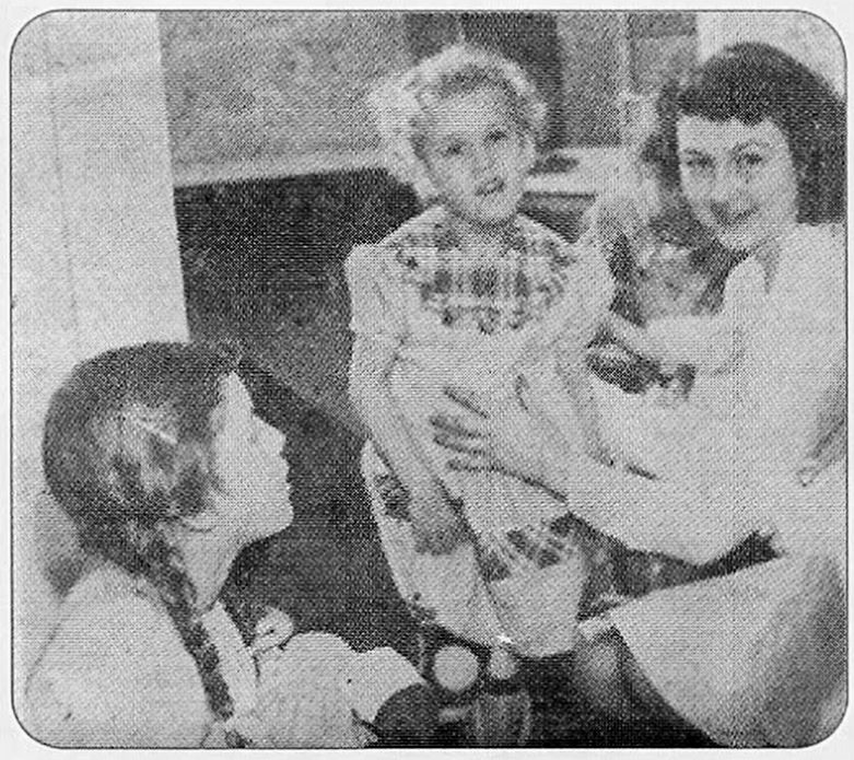 Ellen and child with Polio